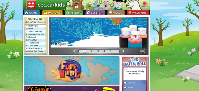 PBS Kids: All the best PBS kids shows are represented here, from Barney to Mr. Rogers, and each show has its own games and interactive educational fun stuff. Discovery Kids: Discovery Kids is a great kids portal, with lots of fun interactive games, videos, and information about various shows on the Discovery network.