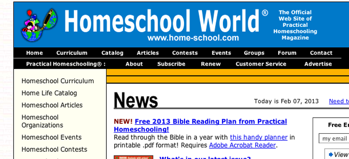 homeschool world