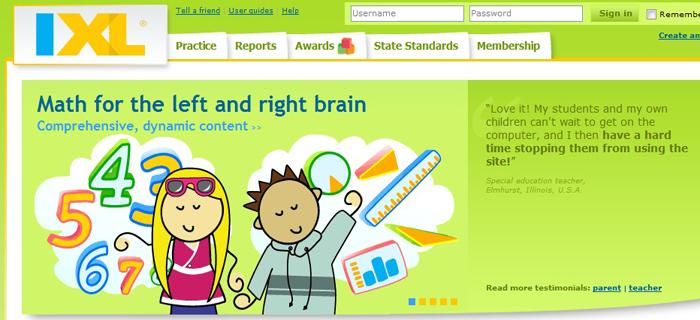 IXL Math : Best Kids Websites