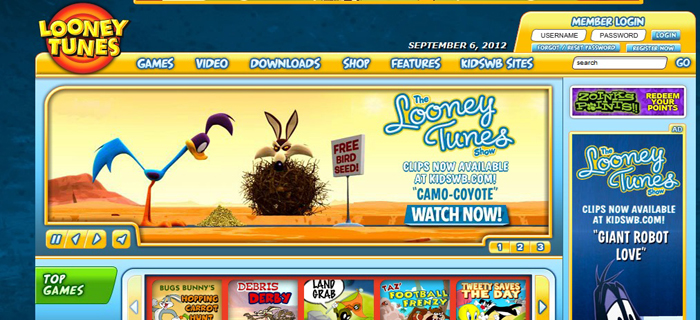 Looney Tunes : Best Kids Websites