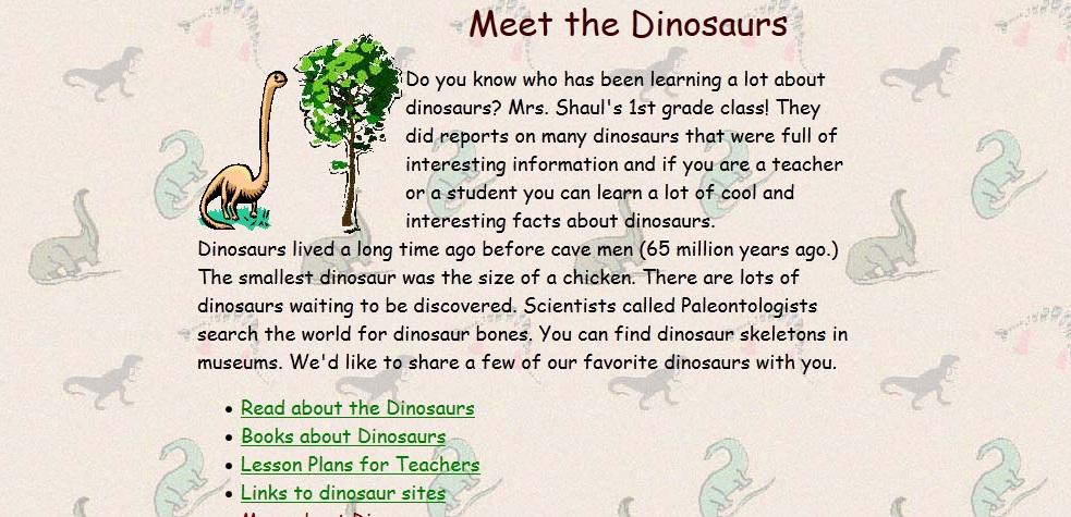 meet dinosaurs
