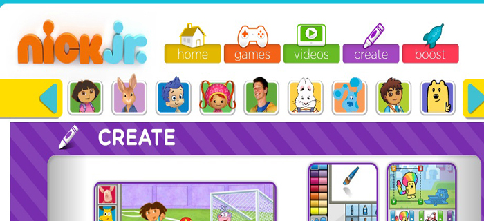 nick jr creativity center